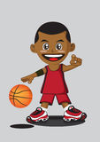 Basketball player. Illustration of cartoon basketball player royalty free illustration