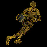 Basketball player. Illustration of colored basketball player design royalty free illustration