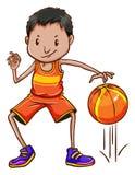 A basketball player Stock Image