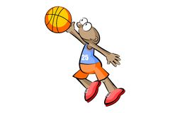 Basketball player isolated over white Royalty Free Stock Photos