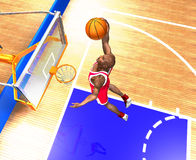 Basketball player jumping high. Royalty Free Stock Photography