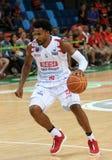 Basketball player Leandrinho. Rio de Janeiro, Brazil, January 27, 2018. Franca`s basketball player, Leandrinho, during the Flamengo vs. Franca match at NBB, New Stock Image