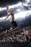 Basketball Player. In light arena Stock Photography