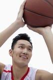 Basketball Player Lining Up His Shot,  Studio Shot Royalty Free Stock Images