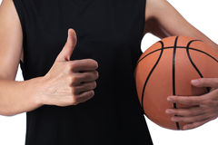 Basketball player making the okay sign Stock Photos