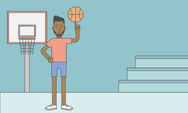 Basketball player man Royalty Free Stock Photography