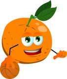 Basketball player orange Royalty Free Stock Photos