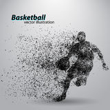 Basketball player from particles. vector illustration