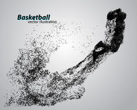 Basketball player from particles. Royalty Free Stock Photos