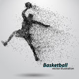 Basketball player from particles. Royalty Free Stock Photography