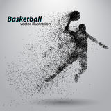 Basketball player from particles. Stock Images