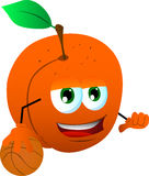 Basketball player peach Stock Images