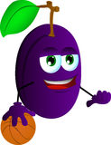 Basketball player plum Stock Image