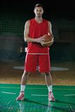Basketball player portrait Royalty Free Stock Images