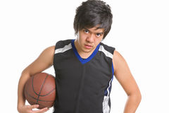 Basketball player pose Royalty Free Stock Photography