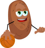 Basketball player potato Royalty Free Stock Photo