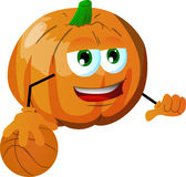 Basketball player pumpkin Stock Photography