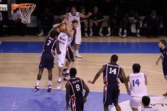 Basketball player rebounding Stock Image
