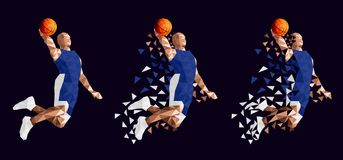 Basketball player set abstract design. Vector illustration stock illustration