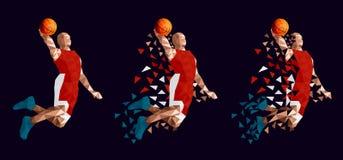 Basketball player set abstract design. Vector illustration royalty free illustration