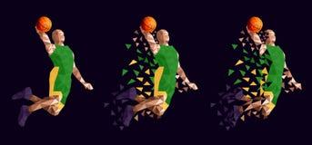 Basketball player set abstract design stock illustration