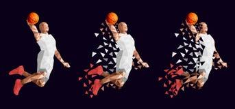 Basketball player set abstract design. Vector illustration vector illustration