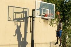 Basketball player shadows