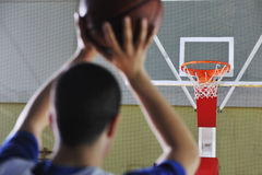 Basketball player shooting Royalty Free Stock Photography