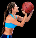 Basketball player shooting Stock Photography