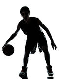 Basketball player silhouette Stock Image