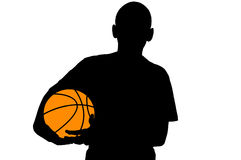 Basketball player silhouette Royalty Free Stock Photography