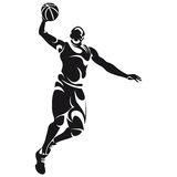 Basketball player, silhouette Stock Image