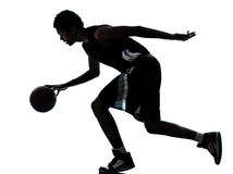 Basketball player silhouette Royalty Free Stock Photos