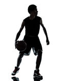 Basketball player silhouette Stock Photography