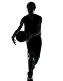 Basketball player silhouette Royalty Free Stock Images