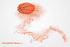 Basketball player of a silhouette from particle. Background and text on a separate layer. color can be changed in one click Stock Photo