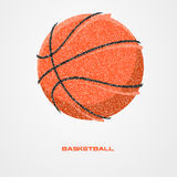 Basketball player of a silhouette from particle. Background and text on a separate layer. color can be changed in one click Stock Image