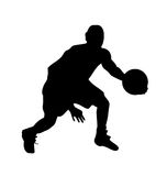Basketball player silhouette vector Stock Photos
