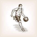Basketball player sketch style vector illustration Stock Images