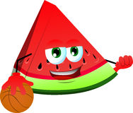 Basketball player slice of watermelon Stock Images
