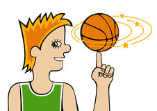 Basketball player Stock Photography