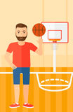 Basketball player spinning ball. Stock Photos