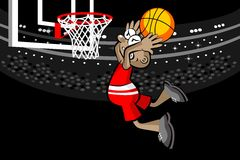 Basketball player in the stadium Stock Images