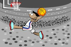 Basketball player in the stadium Stock Photos