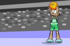 Basketball player in the stadium Royalty Free Stock Photos