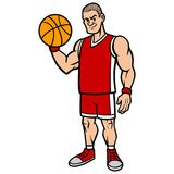 Basketball Player Stance. A vector illustration of a Basketball player Stock Image