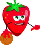 Basketball player strawberry Royalty Free Stock Photo