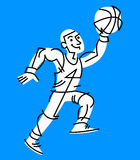 Basketball Player. A stylized cartoon illustration of a basketball player Stock Photo