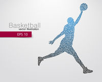 Basketball player of the triangles. Royalty Free Stock Photos