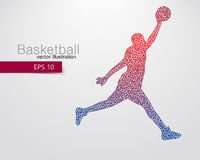Basketball player of the triangles. Royalty Free Stock Images
